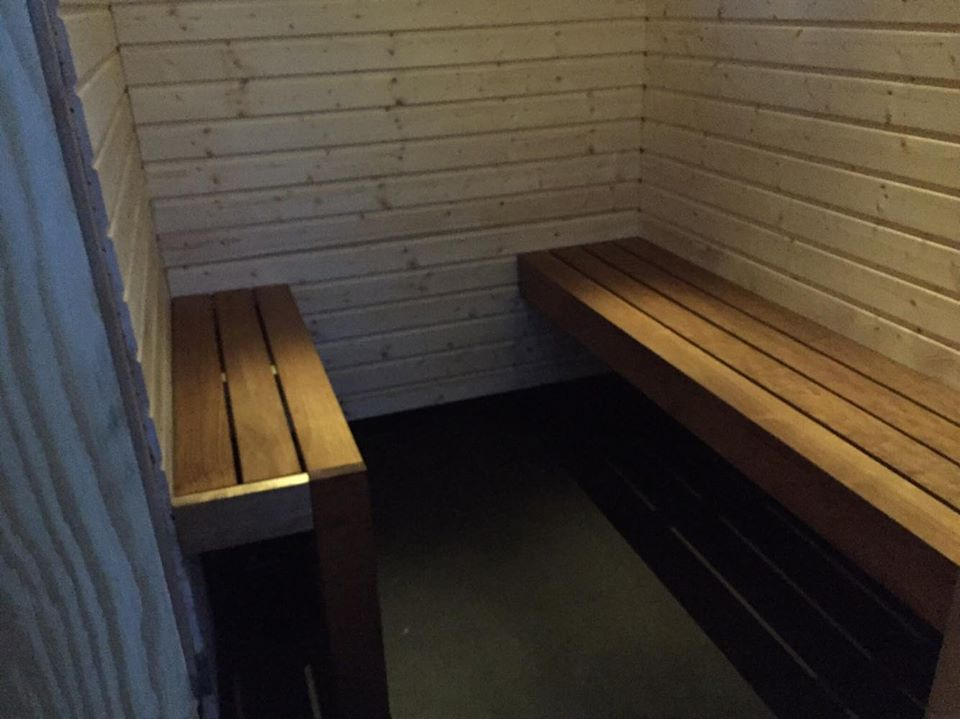 Transportable sauna, dressing room. Tornio/Finland