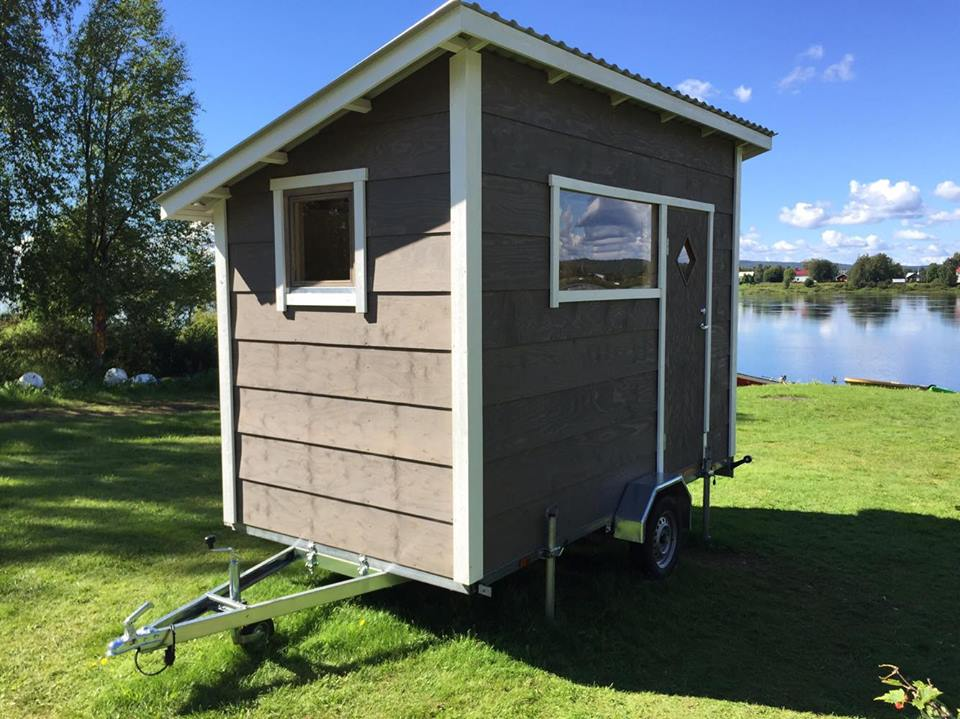 Transportable sauna for 4 persons with dressing room. Tornio, Finland